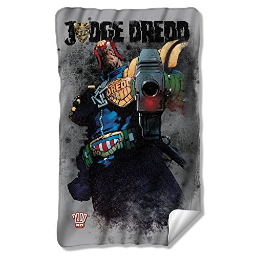 Wicked Tees JUDGE DREDD LAST WORDS Fleece Blanket by Trevco
