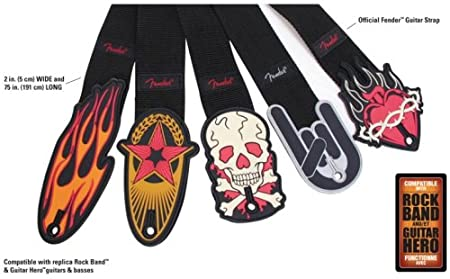 Premium Fender Rock Band Guitar Strap By Mad Catz ~ Assorted Styles