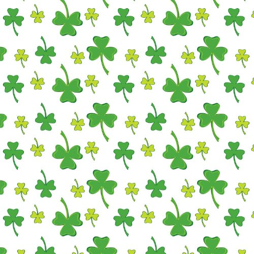 "Party Essentials ValuMost Printed Plastic Table Cover, 54 x 108"", Shamrocks"