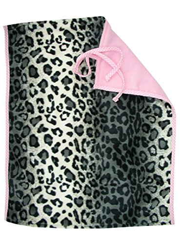 Changing Mat In Snow Leopard With Pink Fleece And Pink Gingham Check Trim front-87889
