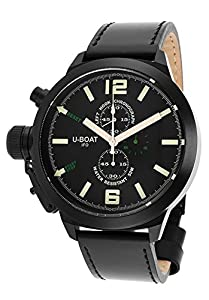 U-Boat Men's Left Hook IFO Limited Edition Chronograph Black Genuine Leather from U-Boat