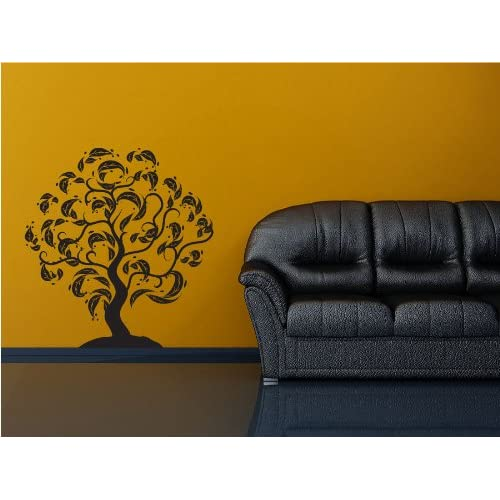 Curvy Tree   Vinyl Wall Art Decal Stickers Decor Graphics