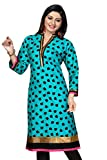 SK Kurtis for women Rama Green apple print pattern work Cotton Kurtis, Designer Kurtis, Long Kurtis, Casual Kurtis, Cotton Kurtis (Size : X-Large)