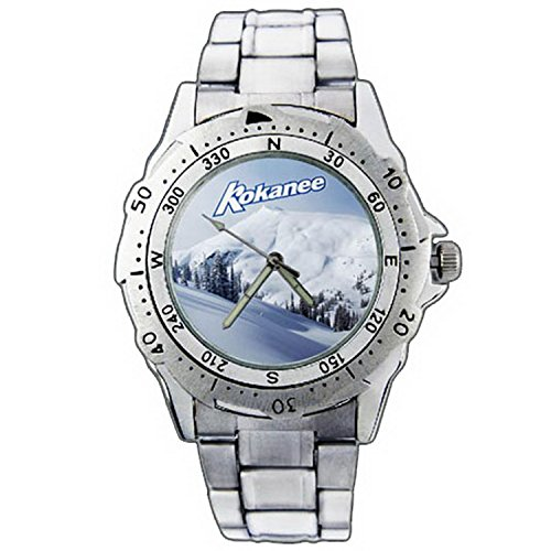 mens-wristwatches-pe01-1158-kokanee-glacier-fresh-beer-snow-bar-stainless-steel-wrist-watch