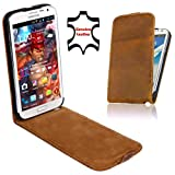 Perfect Case Stil Better Premium Flip Case Real Leather for Samsung Galaxy Note 2 N7100 Brown
