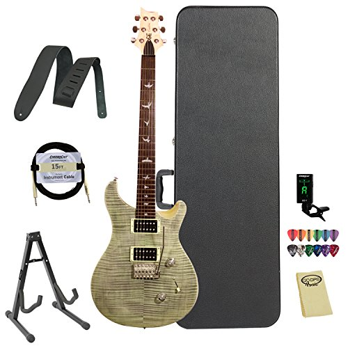Paul Reed Smith Guitars CM4TTG-KIT-2 PRS Exclusive Limited Edition SE Custom 24 Electric Guitar, Trampas Green (Paul Reed Smith Se Custom 24 compare prices)