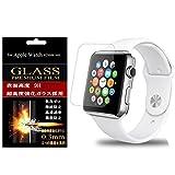 【3枚セット】【GTO】Apple Watch 42mm 専用 薄さ0.2mm 最薄強化ガラス・耐指紋、撥油性 表面硬度9H 厚み2.5D 高透過率液晶保護フィルム 反射低減タイプ 光沢表面仕様 飛散防止加工