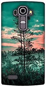 The Racoon Grip foliage fog green hard plastic printed back case / cover for LG G4