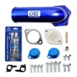 CNS EGR-DK-800 EGR Valve Cooler Delete Kit with Intake Elbow + Silicone Sealant for 04-10 Ford F-Series Super Duty 6.4L (391ci) OHV V8 PowerStroke Diesel Turbo