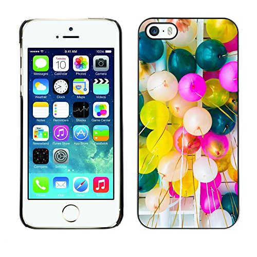 Pulsar Snap-on Series plastica caso dura Guscio Protettivo Cassa Cover Case per Apple iPhone 5 / iPhone 5S , Birthday Balloons Colorful Party Event