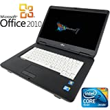 【Microsoft Office2010搭載】【Win7 搭載】富士通 ノートパソコン/メモリ2GB/HDD80GB/大画面15インチ/無線LAN搭載/中古ノートパソコン