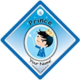 Prince On Board Prince On Board Personalised Cute Blue Prince Car Sign Prince On Board Baby on Board Custom Car Sign Well Add The Name Youd Like Baby on Board Baby Sign Baby Car Sign Personalised Baby on Board Personalised baby on board sign