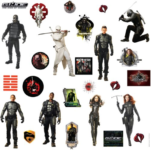 RoomMates RMK1282SCS GI Joe Peel & Stick Wall Decals