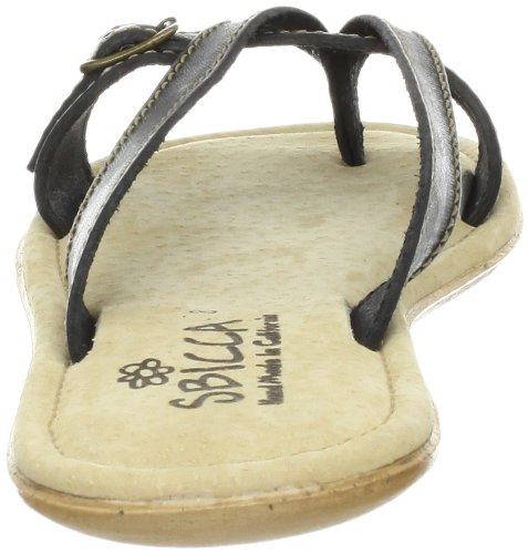 Sbicca Women's Fireworks Thong Sandal,Black,7 B US