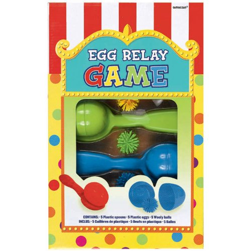 Super Fun Egg Relay Birthday Party Game, Multicolored (Birthday Games For Kids compare prices)