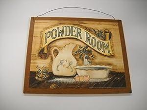 Powder room wooden bathroom wall art sign bath for 9x11 bathroom ideas