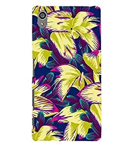 Floral Pattern Back Case Cover for Sony Xperia Z5 Preminium
