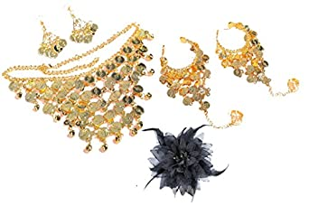 6PCS of Belly Dance Costume Accessory Jewelery Headdress Set