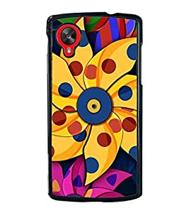 Vizagbeats Paper Pin Wheel Flower Back Case Cover for GOOGLE NEXUS 5