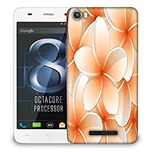 Snoogg all purpose bright frangipani card in vector format Designer Protective Back Case Cover For LAVA IRIS X8