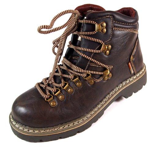 John F.GEE Herren Stiefel Gr.40-46 Jungs Outdoor Boots braun