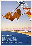 TX71 Vintage Italy Italian Viareggio Forte dei Marmi Travel Poster Re-Print - A3 (432 x 305mm) 16.5