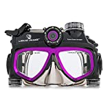 Liquid Image 305P XSC-Xtreme Sport Cams LIC-Hydra Series 12MP Mask Waterproof Video Camera with 1-Inch LCD (Black/Purple)