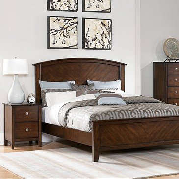 Homelegance Cody 2 Piece Panel Bedroom Set in Warm Cherry