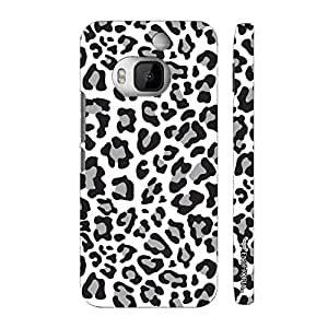 Htc One M9 Plus A white Leopard designer mobile hard shell case by Enthopia