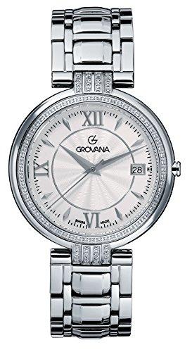GROVANA - 2097.7132 - Montre Mixte - Quartz Analogique - Bracelet Acier Inoxydable Argent