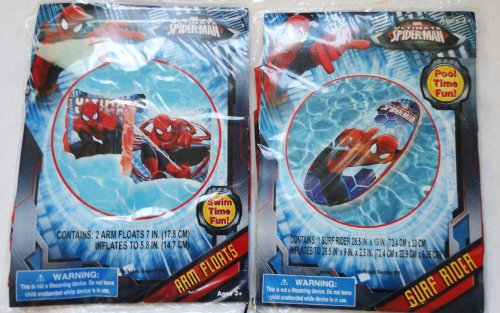 Ultimate Spiderman Surf Rider and Arm Floats