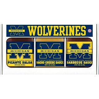 MICHIGAN Wolverines Triple Play BBQ Salsa Cheese