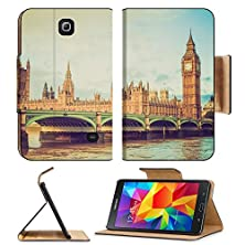 buy Msd Premium Samsung Galaxy Tab 4 7.0 Inch Flip Pu Leather Wallet Case Vintage Looking Westminster Bridge Panorama With The Houses Of Parliament And Big Ben In London Uk Image Id 27007273