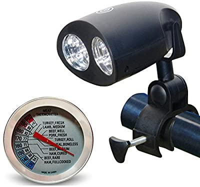 Durrelli Super Bright LED Barbecue Grill Light All-Purpose Handle Mount Heat Resistant BBQ Light