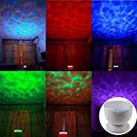 Ocean Lamp , Koiiko® Multicolor Aurora Master Romantic Fantastic Star Relax Night Projector Light with Soothing Relaxing Music Mini Speaker , Automatic Sleep and Auto Shut Down After 1 Hour from koiiko
