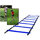 CAMTOA 9-rung Agility Ladder Speed ladder Training ladder for Soccer, Speed, Football Fitness Feet Training with Free Carry Bag