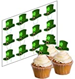 12 St Patrick's Lucky Hat Cupcake Picks for St Patrick's Day! - 'Stand Up' ricepaper cake decorations (uncut)