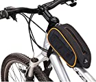 BicycleStore® 3 Color Waterproof Bike Bicycle Frame Front Top Tube Bag Outdoor Cycling Mountain Road MTB Bicycle Accessories (orange)