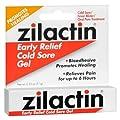 Zilactin Cold Sore Gel, Medicated Gel - 0.25 OzGel
