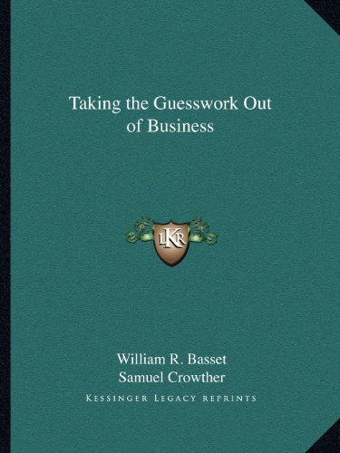 Taking the Guesswork Out of Business PDF
