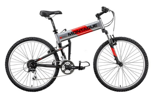 Montague MX Mountain-20 Folding Bike - 20 Inch Frame - Smoke Silver