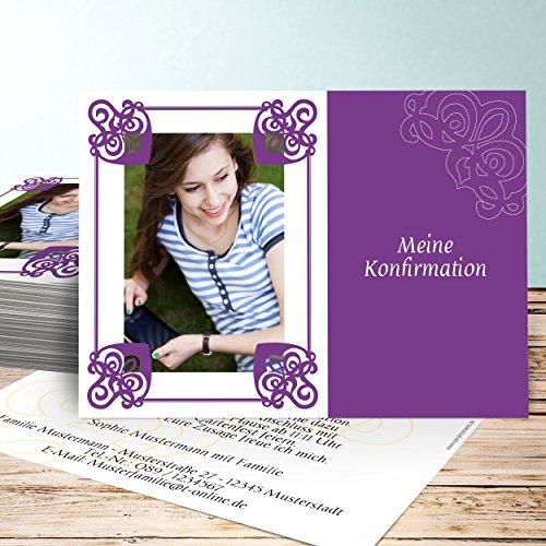 konfirmations einladungskarten selber machen prunk 10 karten horizontal einfach 148x105 inkl. Black Bedroom Furniture Sets. Home Design Ideas