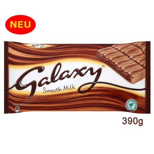 Galaxy Smooth Milk Chocolate 390g - eine besonders sahnig cremige Vollmilchschokolade