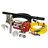 Fill-Rite RD1212NP 12 GPM 12V Portable Fuel Transfer Pump with Manual Nozzle, Discharge Hose, Suction Pipe and Power Cord.