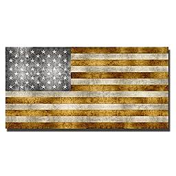Golden Pledge by Luke Wilson Custom Gallery-Wrapped Canvas Giclee Flag Art (Ready to Hang)