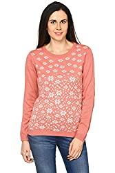 Honey by Pantaloons Women's Round Neck Sweater (205000005620552, Pink, X-Large)