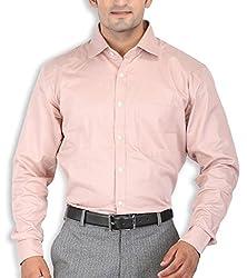 SPEAK Orange Checks Cotton Mens Formal Shirt Regular Fit