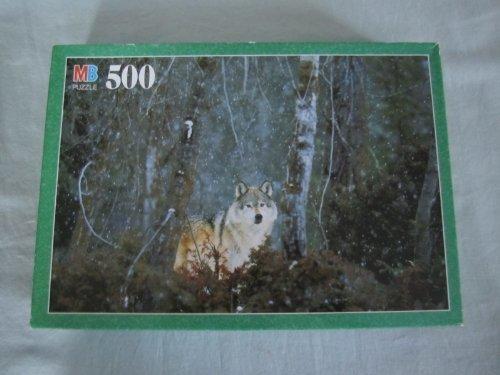 """1998 Milton Bradley Croxley """" Lone Wolf """" Jigsaw Puzzle - 500 Pieces"""