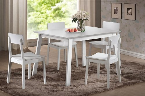 Buy low price boraam 5pc casual dining table and chairs for White casual dining table