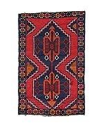 L'Eden del Tappeto Alfombra Beluchistan Rojo / Azul Marino 96 x 146 cm